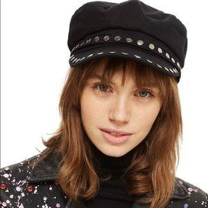 Topshop Studded Baker Boy Hat